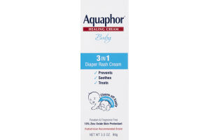 Aquaphor Healing Cream Baby 3 In 1 Diaper Rash Cream Fragrance Free