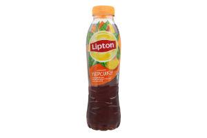 Напій безалкогольний негазований Холодний чорний чай зі смаком персика Lipton п/пл 0.5л