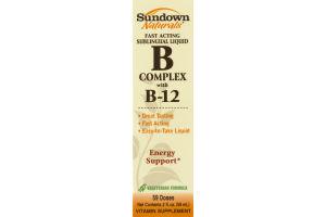 Sundown Naturals Fast Acting Sublingual Liquid B Complex With B-12 Vitamin Supplement