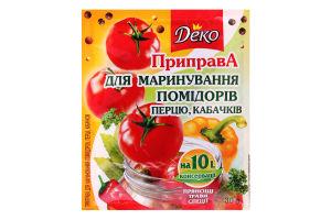 Приправа для маринування помідорів перцю кабачків Деко м/у 30г