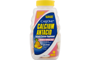 CareOne Calcium Antacid Tablets Assorted Tropical Fruit - 96 CT