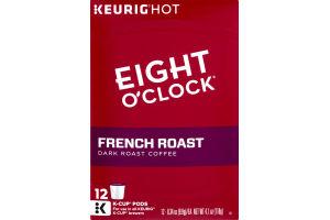 Eight O'Clock French Roast Dark Roast Coffee K-Cup Pods - 12 CT