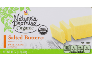 Nature's Promise Organic Salted Butter Sweet Cream - 4 CT