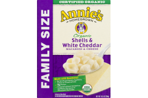 Annie's Homegrown Organic Macaroni & Cheese Shells & White Cheddar Family Size