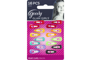 Goody Glam Girls Snap Clips - 16 CT