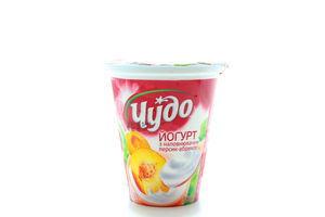 Йогурт 2,5% персик-абрикос Чудо стак 300г