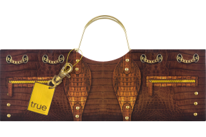 True Croc Purse Wine Bag