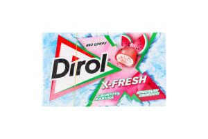 Резинка жевательная без сахара Свежесть арбуза X-Fresh Dirol к/у 18г