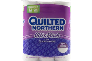 Quilted Northern Ultra Plush Unscented Bathroom Tissue - 12 CT