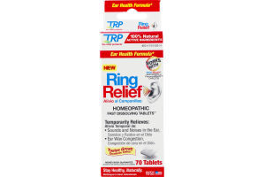 TRP Ring Relief Ear Health Formula Homeopathic Tablets - 70 CT