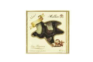 Конфеты шоколадные с ореховым пралине Морские фигурки Melbon к/у 60г
