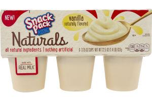 Snack Pack Pudding Naturals Vanilla - 6 CT