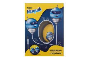 Промо-набір Напій швидкорозчинний з какао Opti-Start Nesguik 380г+Навушники з чохлом к/у 1шт