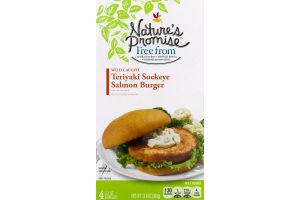 Nature's Promise Wild Caught Sockeye Salmon Burger Teriyaki - 4 CT
