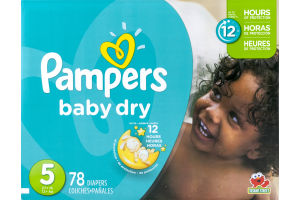 Pampers Baby Dry Diapers Size 5 - 78 CT