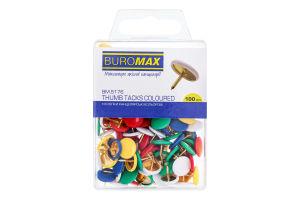 Кнопки канцелярські кольорові №ВМ.5176 Buromax 100шт