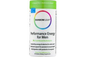 Rainbow Light Performance Energy for Men Dietary Supplement Tablets - 90 CT
