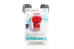 Миша комп'ютерна Logitech M187 WL Red