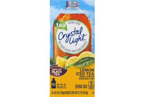 Crystal Light Tea On-The-Go Lemon Iced Tea Packets - 10 CT