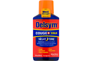 Delsym Night-Time Cough and Cold Mixed Berry