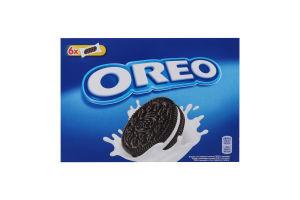 Печенье с какао и кремовой начинкой ванильного вкуса Oreo к/у 228г
