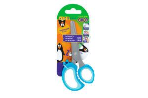 Ножиці дитячі ZiBi 128мм, пластикові ручки з гумовими вставками,кол. асорті