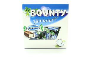 Цукерки Bounty Miniatures з м'якоттю кокоса в мол.шок220г