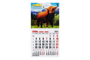 Календар 2020 №MK-65 Улюблене зображення Магніт Студія Марко 1шт