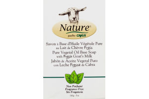 Nature by Canus Pure Vegetal Oil Base Soap with Fresh Goat's Milk Fragrance Free