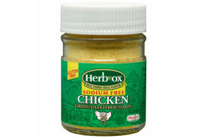 Herb-Ox Sodium Free Granulated Chicken Bouillon, 3.3 Ounce