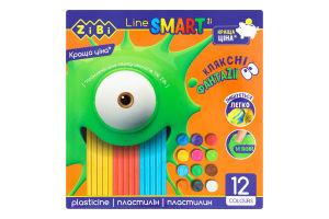 Пластилин для детей от 3лет 12 цветов №ZB.6224 Smart Line Zibi 12шт