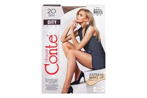 Колготки жіночі Conte City №8С-39СПС 20den 3-M bronz
