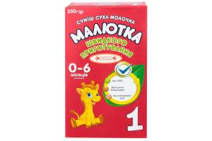 Смесь сухая молочная для детей от 0 до 6мес №1 Малютка к/у 350г