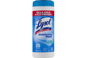 Lysol Disinfecting Wipes Ocean Fresh Scent - 35 CT