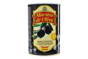 Маслини з кісточкою Maestro de Oliva з/б 420г