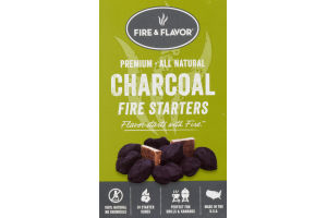 Fire & Flavor Charcoal Fire Starters - 24 CT