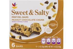 Ahold Sweet & Salty Pretzel Bars Peanut Chocolate Chunk - 6 CT