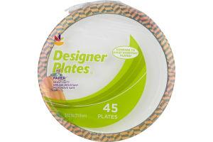 Ahold Paper Plates Designer - 45 CT