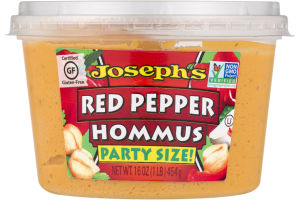 Joseph's Party Size Hommus Red Pepper
