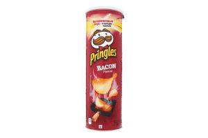Чипсы картофельные со вкусом бекона Pringles к/у 165г