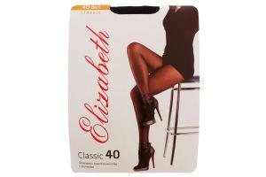 Колготки женские Elizabeth Classic 40den 3 nero