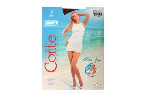 Колготи жіночі Conte Summer multifibra 8den 3-M bronz