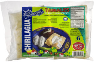 Rio Grande Foods Chirilagua Green Corn Salvadorean Tamales - 6 CT