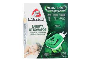Комплект прибор электрический+средство инсектицидное Защита от комаров Раптор 1шт