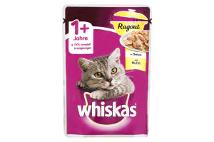 Корм влажный для взрослых кошек с курицей в желе Whiskas д/п 85г