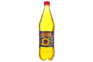 """Олія соняшникова """"Соняшки"""" сиродавлена першого хол віджиму"""