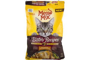 Meow Mix Cat Food Bistro Recipes Rotisserie Chicken Flavor