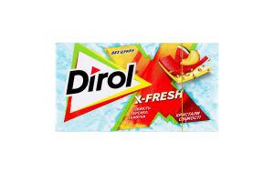 Резинка жевательная без сахара Свежесть персика и арбуза Х-Fresh Dirol к/у 13.5г
