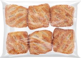 Виріб борошняний з листового дріжджового тіста Міні з м'ясною начинкою Бейкері Фуд Індастрі кг