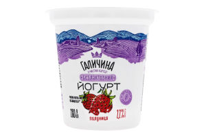 Йогурт 2.2% безлактозний Полуниця Галичина ст 280г